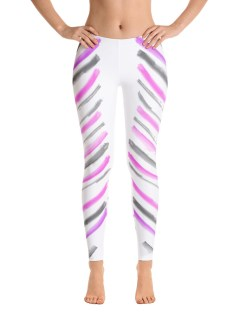 Warrior Stripes – Pink and Grey, Reflection