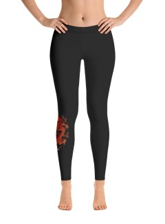 Dragon Leggings – Black
