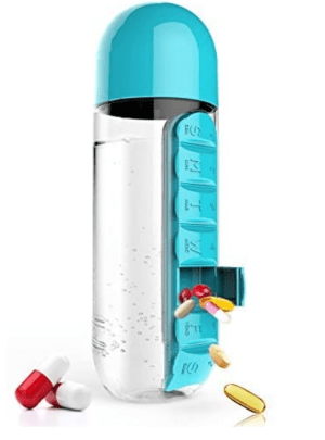 Asobu Pill Box Organizer and Water Bottle Combo