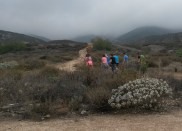 Hiking to the fault.