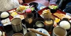 tea, sushi and tempura