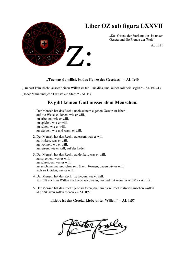 Liber Oz - Die Eid-Genossenschaft