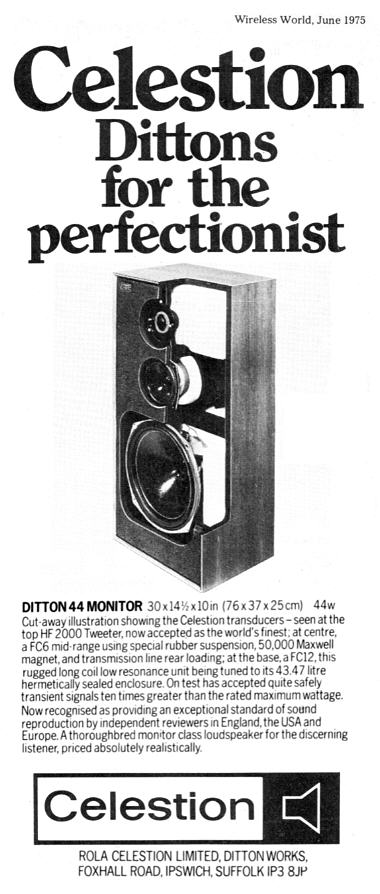 Celestion Ditton 44 Manual / Brochure Scans