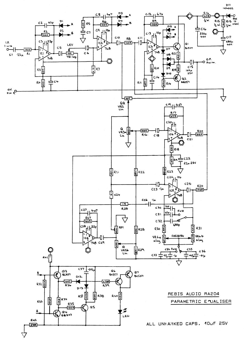 Pin Parametric Eq Schematic