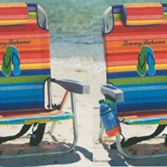 Tommy Bahama Backpack Cooler Chair Blue Transport Chairs 2 With Storage Pouch And Towel Bar Multicolor Stripes