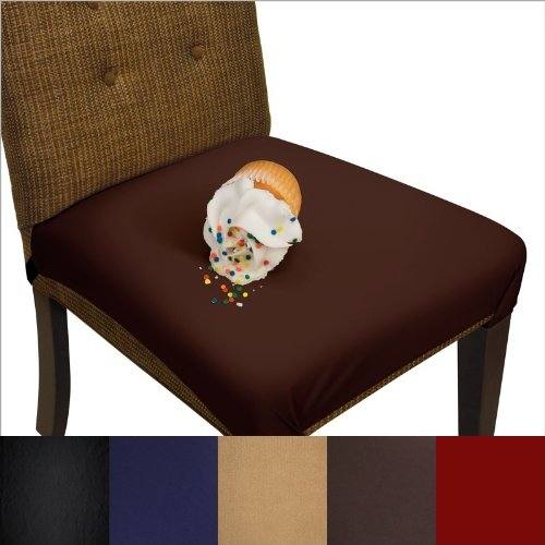 vinyl chair cushion covers outdoor wood soft stretchable removable machine washable seat and easily restores worn tattered chairs better than whether you have children running around in the house know that they will not