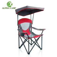 Swimways Premium Canopy Chair Gmc Acadia With Captains Chairs Alpha Camp Mesh Folding Camping Red Saturnbelt