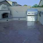 Outdoor fireplace, built-in BBQ, outdoor kitchen, Phoenix AZ
