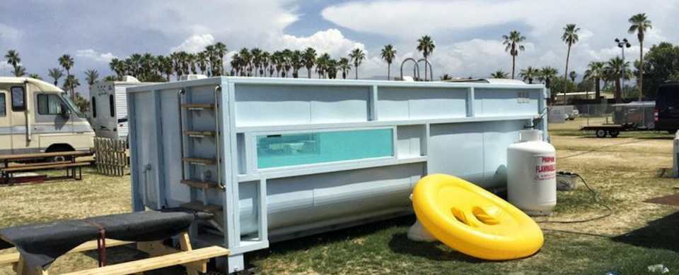 Music Festival Worker Invents Completely Mobile Swimming Pool