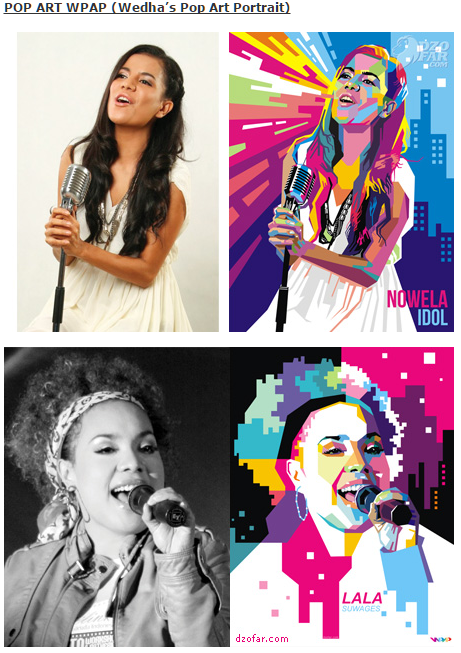 jasa gambar vector pop art wpap