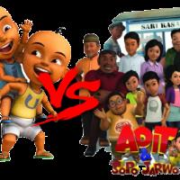 Menonton Upin Ipin dan Adit Sopo Jarwo