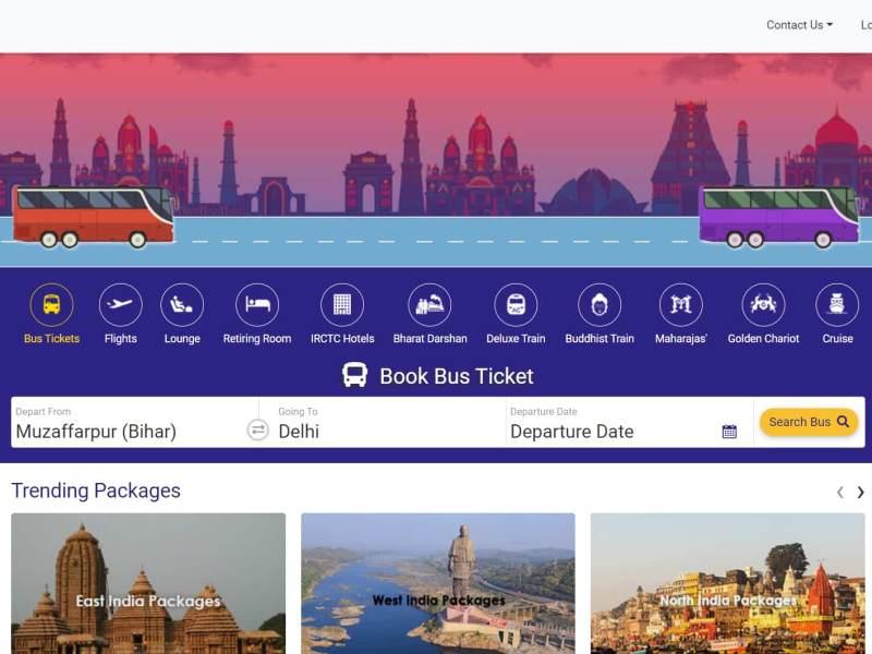 irctc online bus ticket booking service