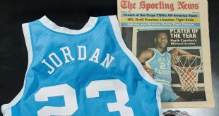 Michael Jordan UNC jersey auctioned for 138 million