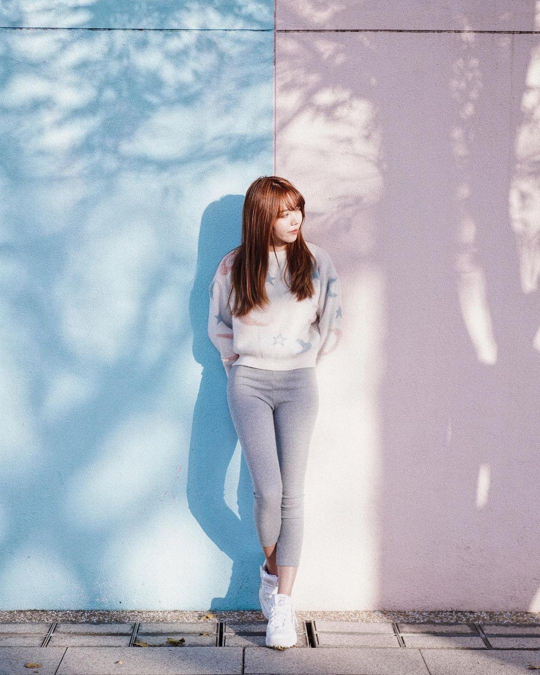 石硤尾公園粉紅粉藍雙色牆 (圖片來源:IG@creamy_csy)