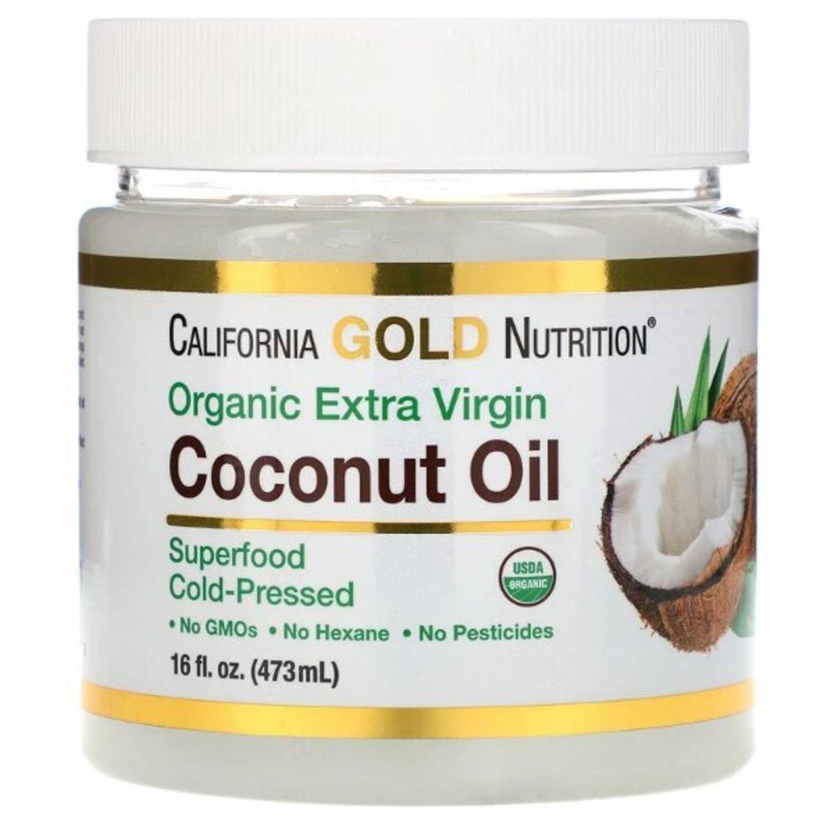 California Gold Nutrition - 冷榨有機初榨椰子油 473ml HK$155