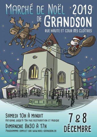 GRANSON2019 #MonsieurPiment @Marché de Noël Grandson 2019