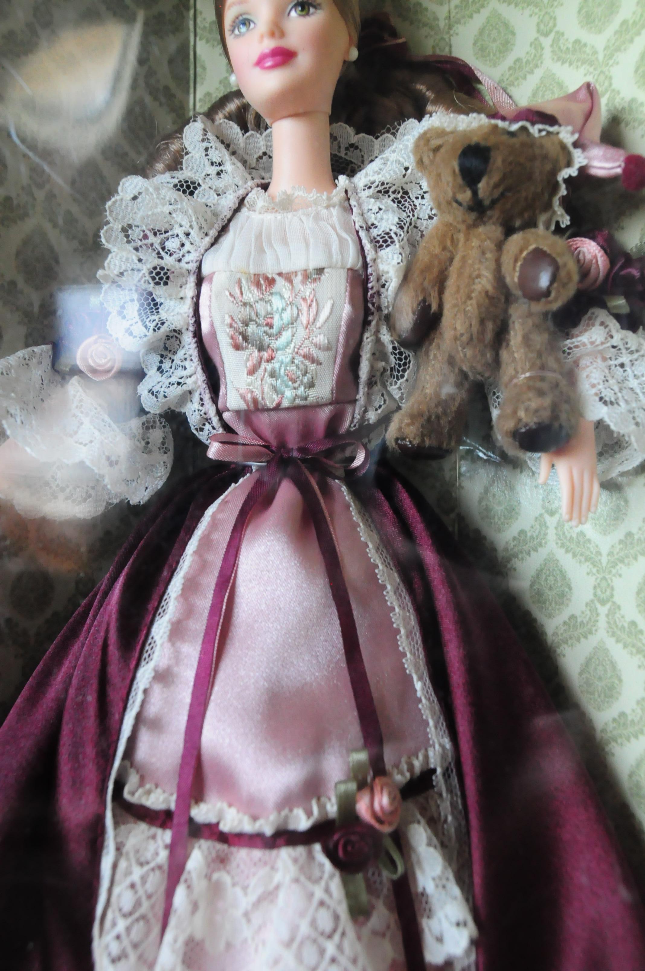 Victorian Barbie With Cedric Bear 1999 Saucy Barbie