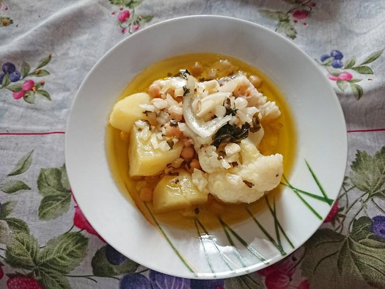 Bacalhau Cozido com Grão