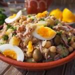 Recept: Salada de Grão de Bico, Batata e Atum