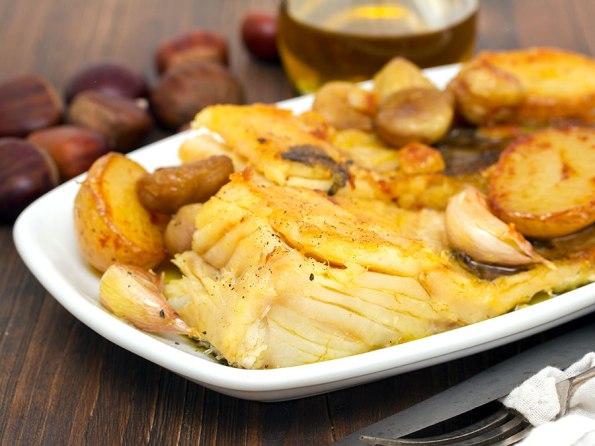 Bacalhau com Castanhas e Vinho do Porto