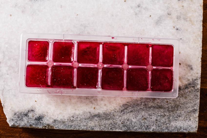 Cubos de Gelo de Chá de Hibisco