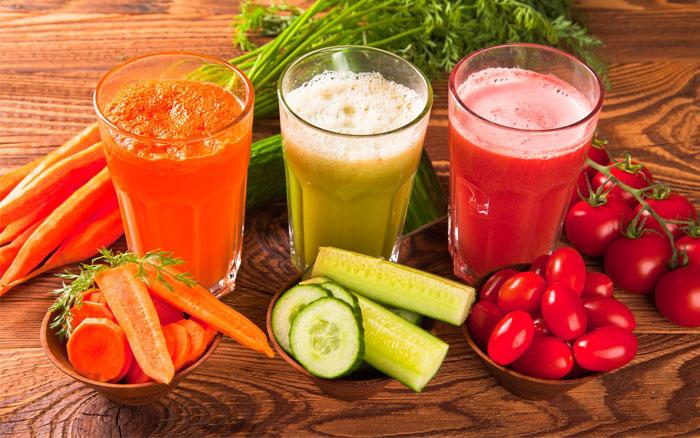 Sucos de Vegetais ou Sucos de Fruta