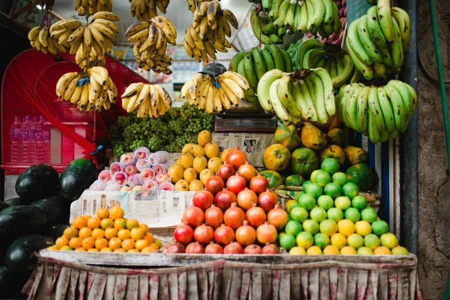 frutas ricas em fibras alimentares