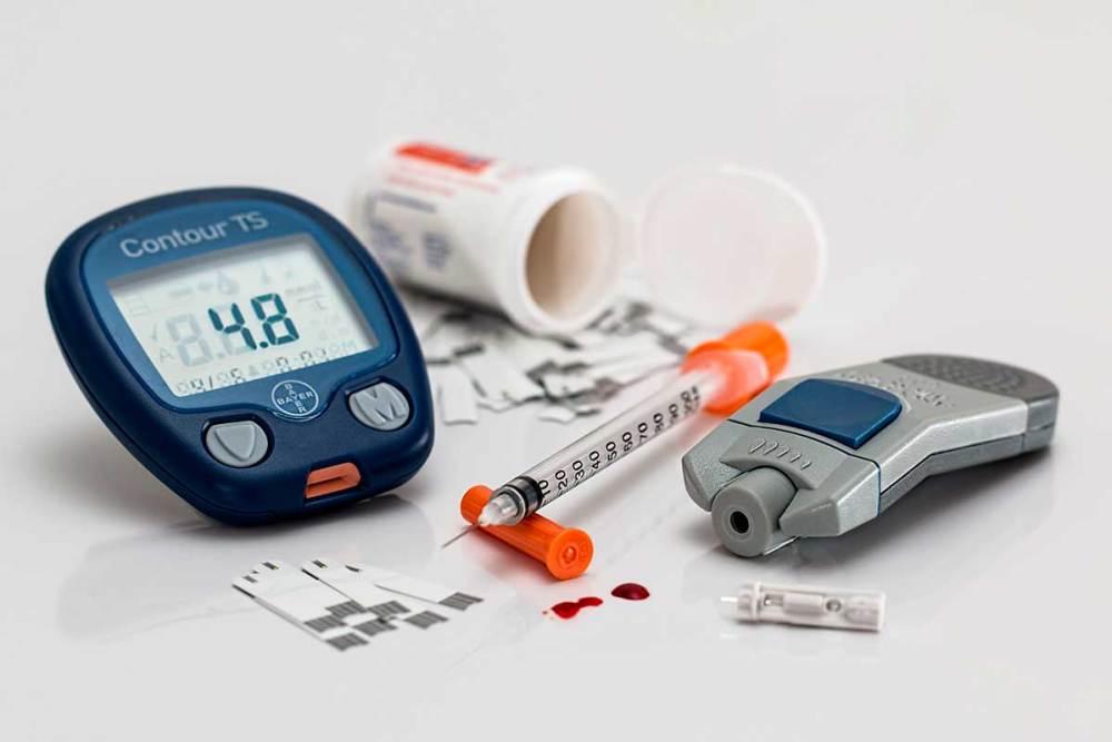 medidor de glicose com tiras