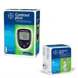 kit monitor glicemia contour plus