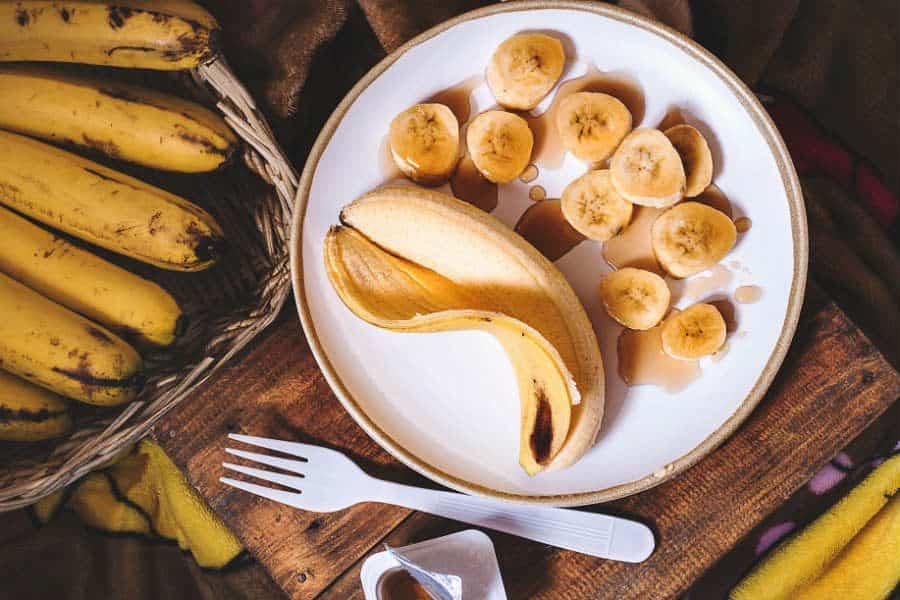 comer banana antes de correr