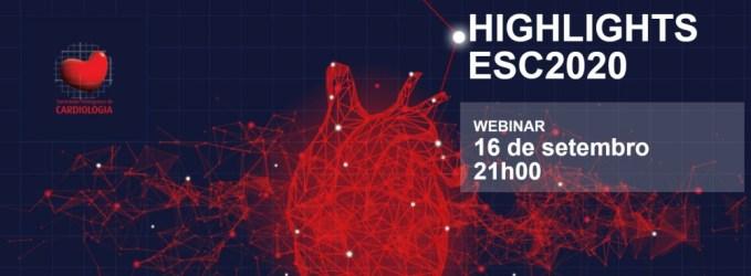 Highlights ESC2020: Webinar junta especialistas de renome, hoje, às 21h