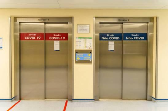 Há circuitos distintos para doentes Covid e não-Covid