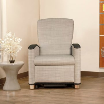 Wieland Cove patient recliner in hospital room