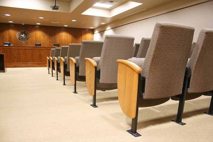 Sauder Clarity Seating in Texas Courtroom