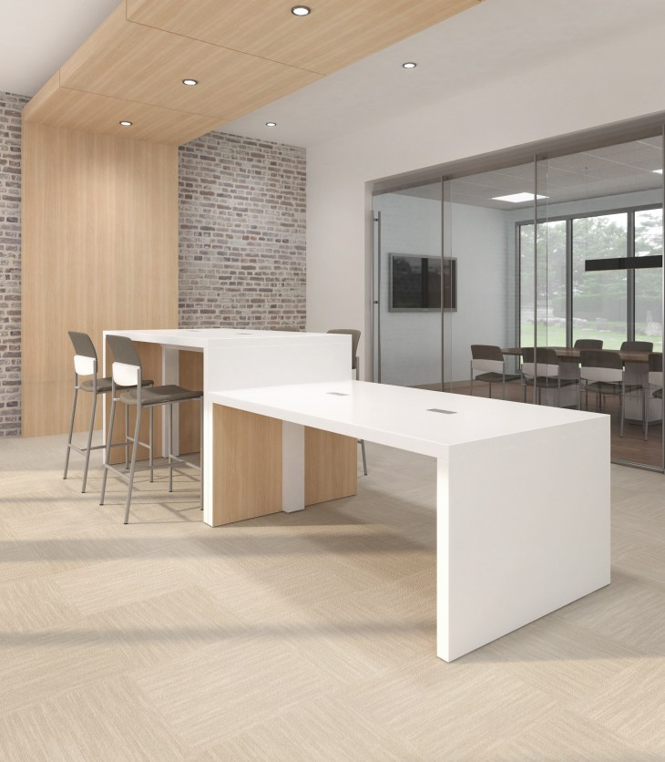 Endzone custom table collaborative office space