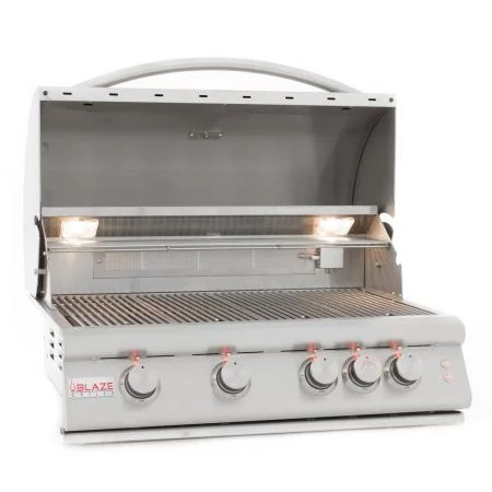 BLAZE 32 INCH 4 BURNER LTE GAS GRILL WITH REAR BURNER AND