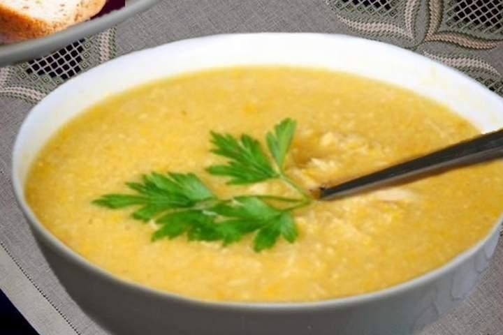 Sopa de Batata Doce com Frango