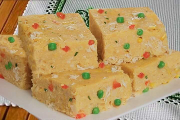 Torta-Cuscuz de Frango