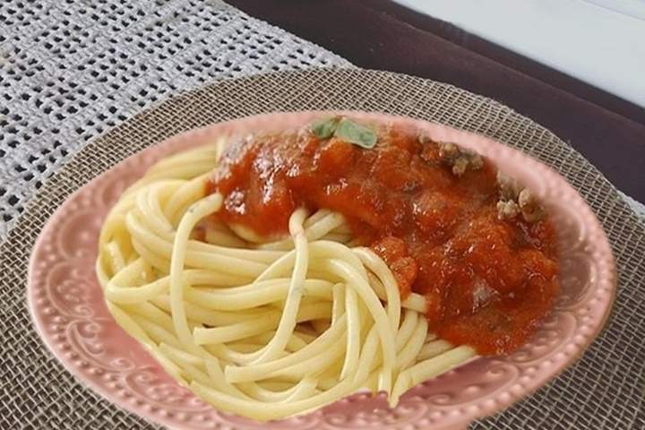 Macarronada com Carne Moída