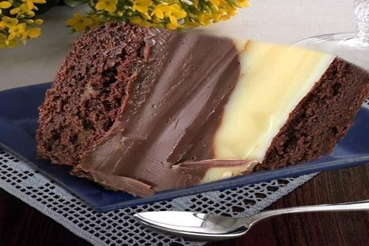 Brownie de Chocolate com Brigadeiro de Ninho
