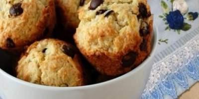 Muffin de Banana, Coco e Chocolate