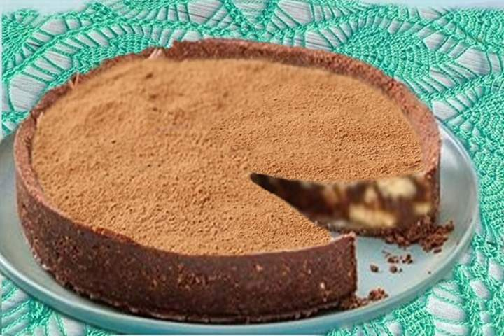 Torta Ganache com Biscoitos