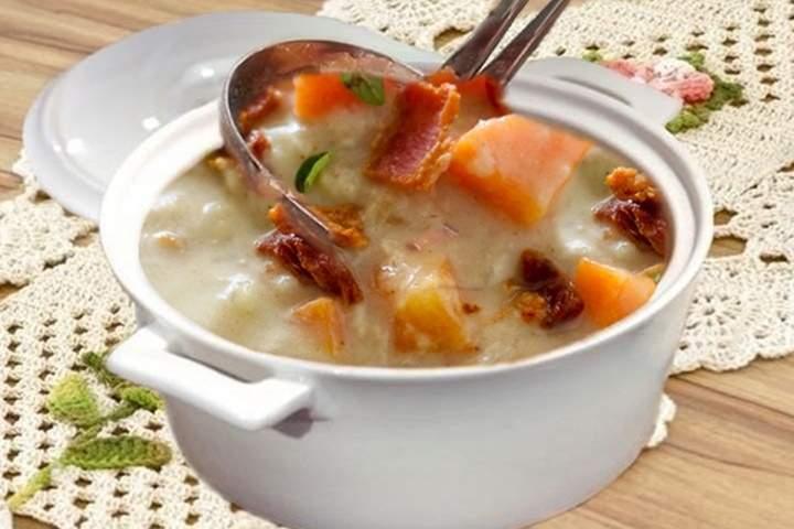 Sopa Cremosa de Couve-flor