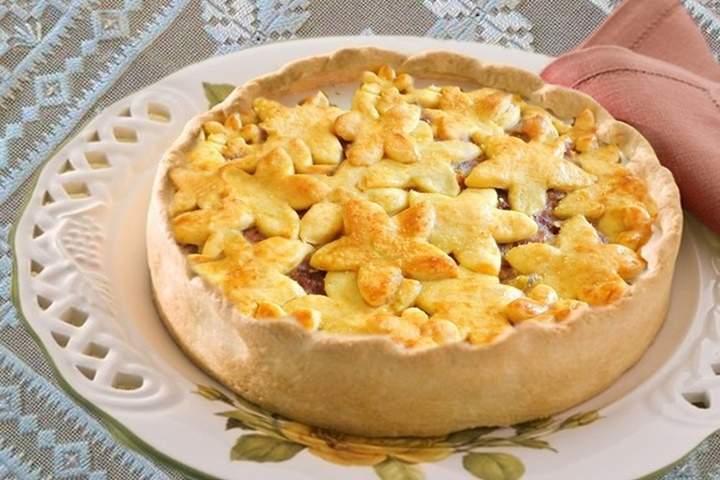 Torta de Carne Seca com Banana