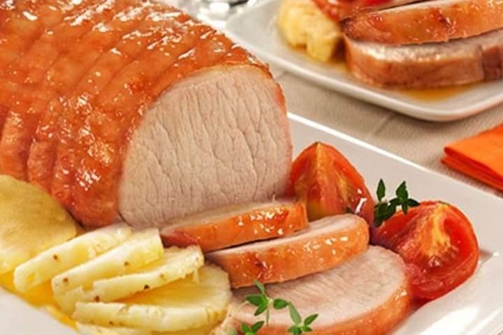 Lombo de Porco com Abacaxi