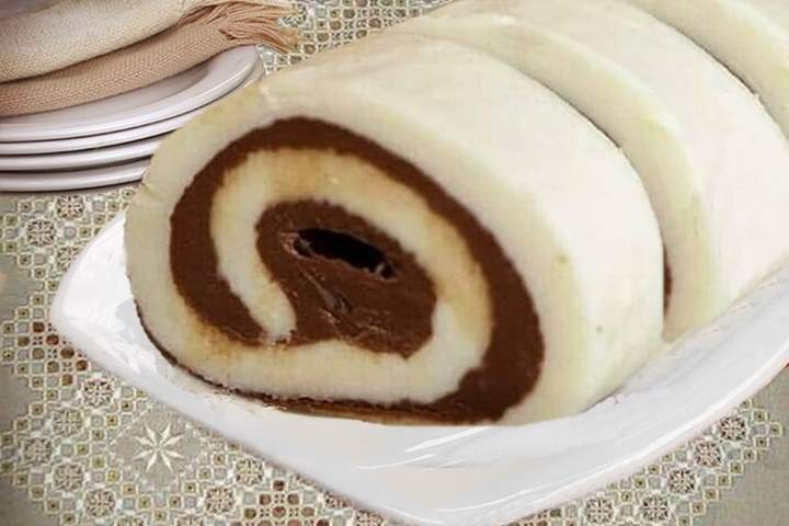 Rocambole de Leite Ninho com Nutella