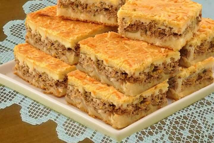 Torta de Carne Moída Cremosa