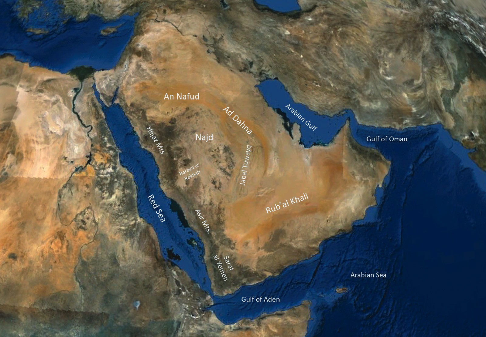 Geographic Map Of Arabia