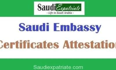 Steps to get Saudi Embassy Certificates Attestation-SaudiExpatriate.com