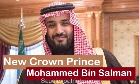 Mohammed bin Salman New Crown Prince in Saudi Arabia (KSA)-SaudiExpatriate.com